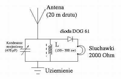 Prosty radioodbiornik tranzystorowy